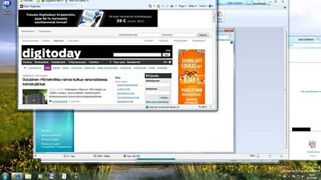 Windows 7:n esiversio käytössä vuonna 2008.