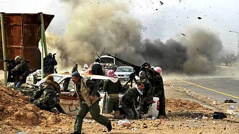 Libyan Ras Lanufissa taisteltiin rajusti torstaina.