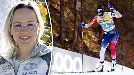 Riitta-Liisa Roponen (vas.) voitti tiistaina Heidi Wengin (oik.), ja se aiheutti polemiikkia Norjassa.