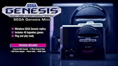 Sega Mega Drive tunnettiin USA:ssa Sega Genesiksenä. Retrokonsoli tulee kauppoihin syyskuussa.