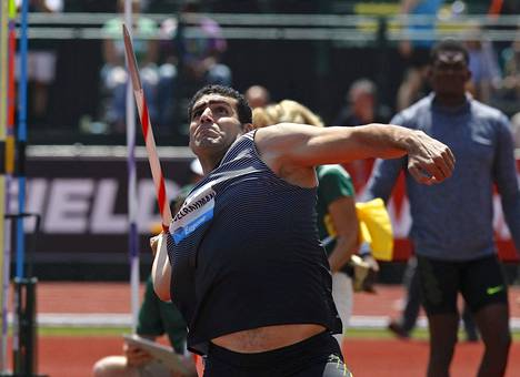 Ihab Abdelrahman on tämän kauden keihään maailmantilastossa viidentenä tuloksella 87,37.