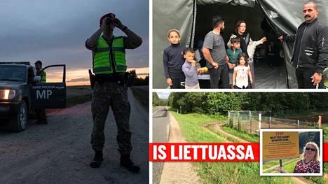 Liettuan ja Valko-Venäjän raja kulkee paikoin lähellä valtateitä. Suurin osa laittomista rajanylittäjistä tulee Liettuaan metsiä pitkin heikosti valvotun rajan yli.