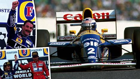 Williams hallitsi F1-maailmaa 1990-luvun alussa.