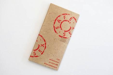 Safe Sex – muotoiltu kondomi. Myyntiin vuonna 1991.