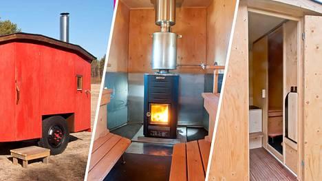 Revonlahdella asuva Yrjö osti 80-luvulla traktorin, jonka mukana tullut peräkärry on saanut uuden elämän saunana.
