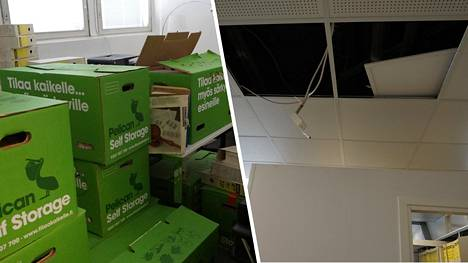 Humalainen vieras aiheutti vakavia vaurioita Turun Vuokra-asunnot Oy:n toimistoon.