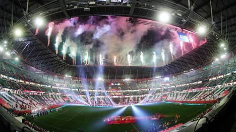 Education City Stadium on yksi vuoden 2002 MM-jalkapallon näyttämöistä.