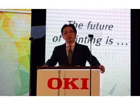 OKI:n EMEA-johtaja Terry Kawashima kertoi uutuuksista.