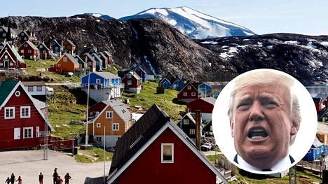 Wall Street Journalin mukaan Yhdysvaltain presidentti Donald Trump on kiinnostunut Grönlannin ostamisesta. Kuvassa saaren länsiosissa sijaitseva Upernavikin kylä.