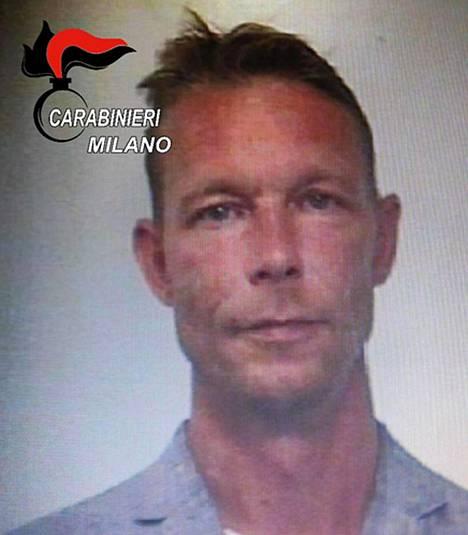 Christian B. Italian poliisin pidätyskuvassa. Italian poliisi pidätti Christian B:n huumekaupasta.