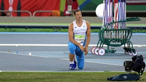 Tero Pitkämäki ei selviytynyt keihäsfinaaliin Rion olympialaisissa.