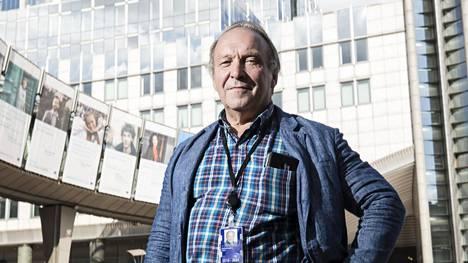 Europarlamentaarikko Teuvo Hakkarainen Brysselissä 8. heinäkuuta 2019.