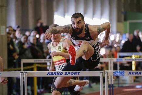 Rami Kareem voitti 60 metrin aidat ajalla 7,98 Myllypuron SM-halleissa helmikuussa.