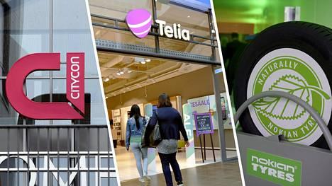 Cityconin, Teliaa ja Nokian Renkaiden odotetaan maksavan mukavasti osinkoa.