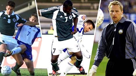 Mika Nurmela, Ville Nylund ja Antti Niemi pelasivat kaikki maaottelussa Saksaa vastaan 2001.
