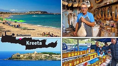 Kreetan Réthymnon on monipuolinen kaupunki.