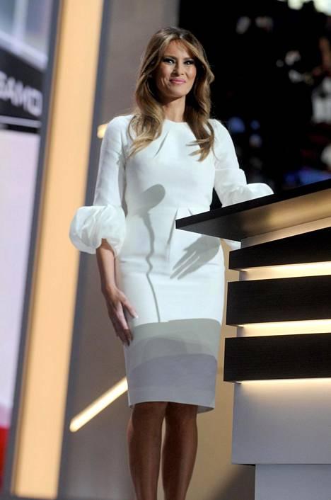Melania puhui republikaanien puoluekokouksessa heinäkuussa 2016.