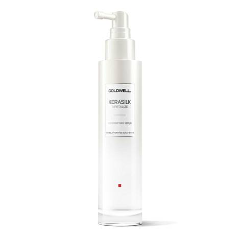 Goldwellin Kerasilk Revitalize Nourishing Serum -seerumi vahvistaa hiuspohjan luonnollista suojakerrosta ja kosteuttaa kuivaa ja herkkää päänahkaa, 68 €.
