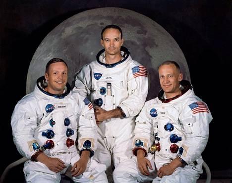 Neil A. Armstrong, Michael Collins ja Edwin E. Buzz Aldrin – monen pikkupojan ja -tytön sankarit.