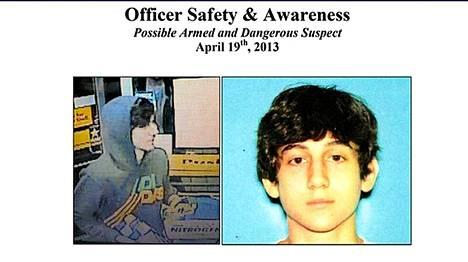 Epäilty Dzhohar Tsarnajev.