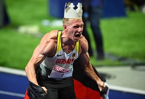 Arthur Abele juhli kymmenottelun EM-kultaa kotiyleisönsä edessä.