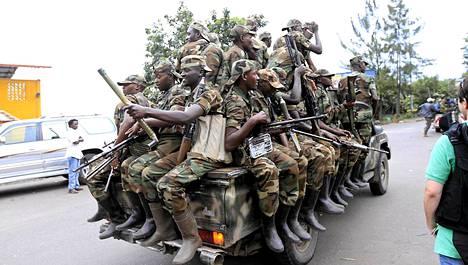 M23-ryhmän kapinalliset valtasivat itäisessä Kongossa sijaitsevan Goman kaupungin tiistaina.