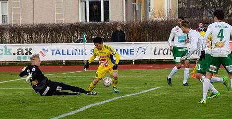 IFK Mariehamn ja HJK pelasivat tasapelin.
