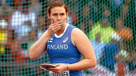 Sanna Kämäräinen sijoittui kiekkofinaalin seitsemänneksi.