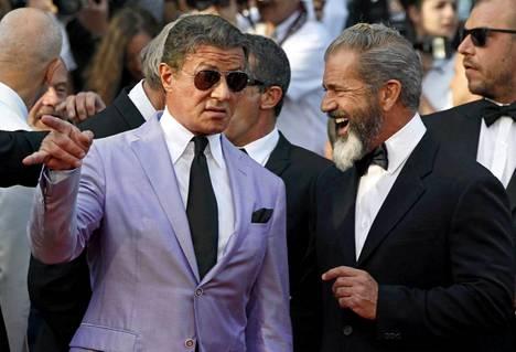 Sylvester Stallone Cannesin elokuvajuhlilla toukokuussa 2014 yhdessä Mel Gibsonin kanssa.