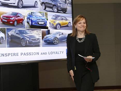 General Motorsin toimitusjohtaja Mary Barra.