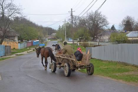 Hevospeli on yleinen kulkuväline.