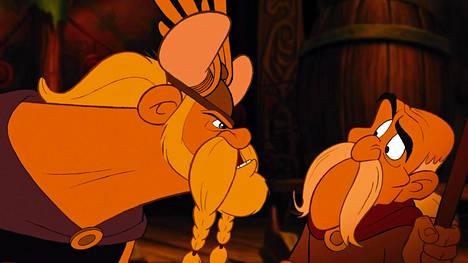 Gallialaiset kohtaavat viikingit Asterix-elokuvassa.