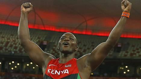 Maailmanmestari Julius Yego ei ole parhaimmillaan punttisalilla.