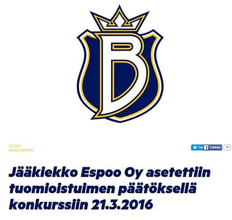 Kuvakaappaus Espoo Bluesin verkkosivuilta.