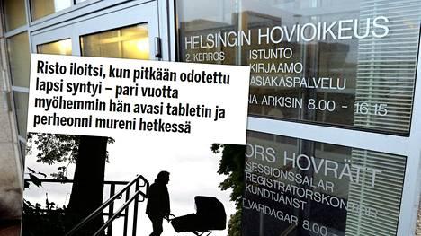 Riston taistelu elatusmaksuista jatkuu Helsingin hovioikeudessa.