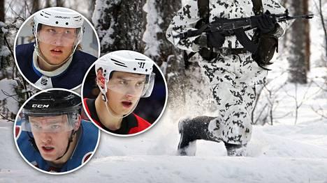 Suomen NHL-tähdistä muiden muassa Patrik Laineella, Sebastian Aholla ja Mikko Rantasella on varusmiespalvelus suorittamatta.
