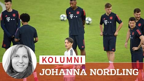 Niko Kovacin (kesk.) tyyli ei miellyttänyt FC Bayern Münchenin pelaajia.