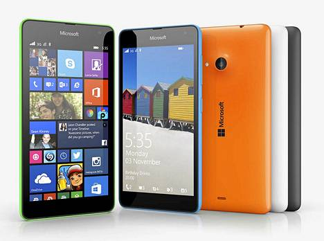 Lumia 535 on ensimmäinen Microsoftin nimellä julkaistu Lumia-älypuhelin.