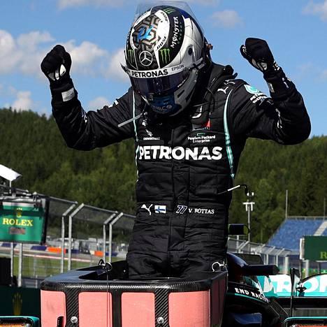 Valtteri Bottas juhli voittoa.