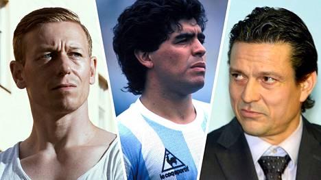 Mikael Forssell (vas.) ja Jari Litmanen (oik.) kertoivat, mitä Diego Maradona heille merkitsi.