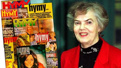 Aikansa kohutulle Hymy-lehdelle etunimensä antanut Hymy Lahtinen on poissa. Kuva vuodelta 1999.