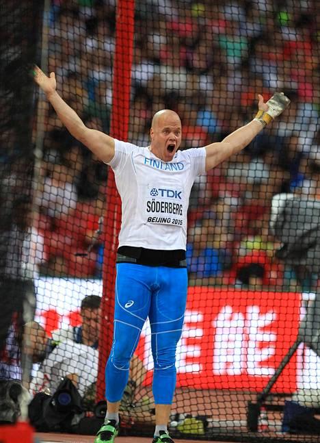 David Söderbergin uran paras arvokisasijoitus on kuudes. Sen hän saavutti Pekingin MM-kisoissa 2015.