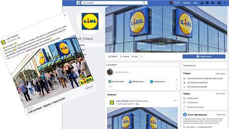 Lidlin nimissä tehtävät huijaukset näkyvät Facebookin uutisvirrassa. Niiden takana on Lidl_Finland-niminen sivuväärennös.