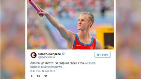 Pikajuoksija Aleksandr Hytte jäi vuonna 2015 kiinni dopingtestissä. Hän haluaa saattaa valmentajansa vastuuseen tapahtuneesta.