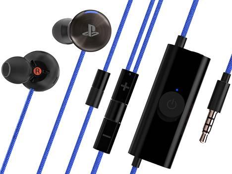 Kuulokejohdossa on monta elementtiä: mikrofoni, volyyminsäätö sekä ohjaimia sisältävä akku.