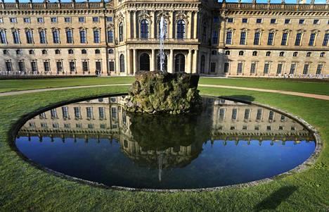 Saksan Würzburgin barokkiarkkitehtuuria.