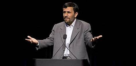 Iranin presidenttiä haukuttiin julmaksi diktaattoriksi eilen newyorkilaisessa Columbian yliopistossa.