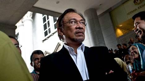Malesialainen oppositiojohtaja Anwar Ibrahim.