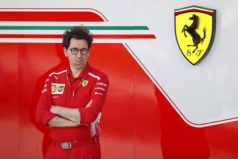 Ferrarin tallipäälliköksi noussut sveitsiläinen Mattia Binotto toimi aiemmin tallin teknisenä johtajana.