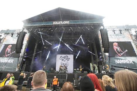 Santa Cruz Download-festivaalilla Britanniassa.